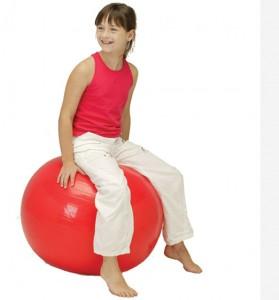 sėdėjimas ant kamuolio